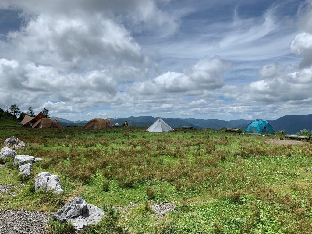 四国カルストの絶景でキャンプ