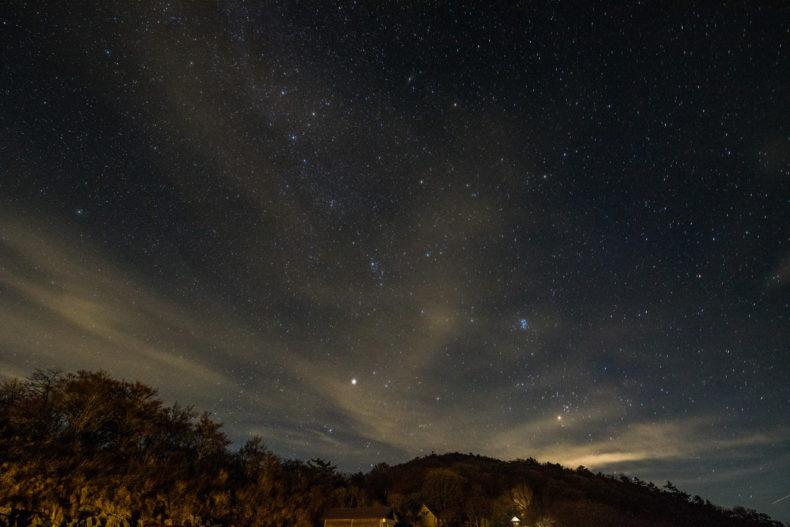 四国カルストの星空が絶景