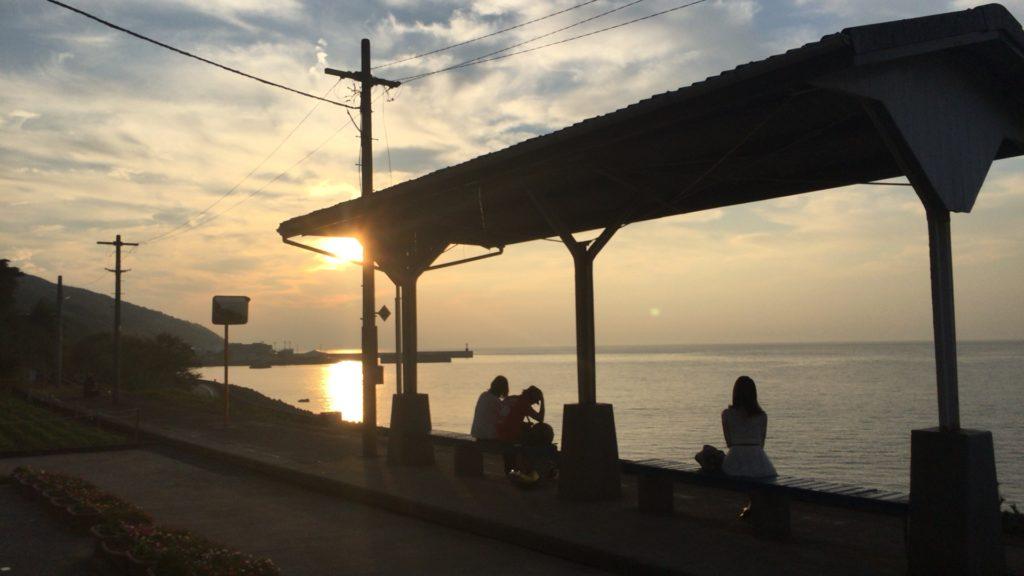ロマンチックな夕日が絶景