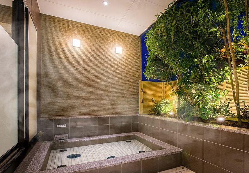 道後温泉の引き湯を使用した大浴場
