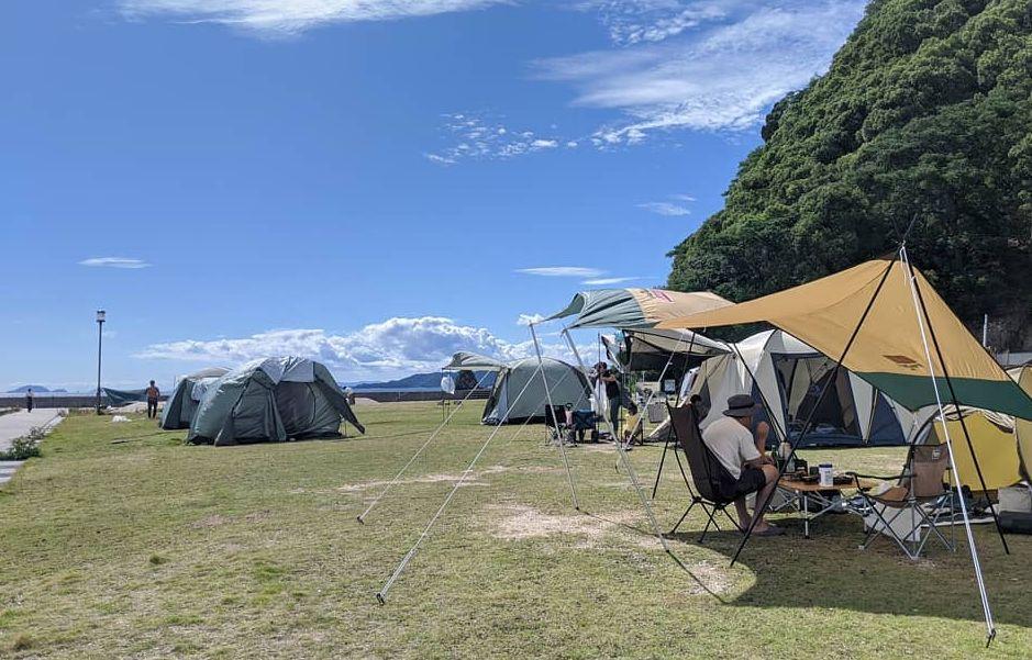 愛媛県のおすすめキャンプ場①:北條鹿島キャンプ場(松山市)